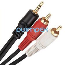 N28 300cm Stereo Audio Kabel 3,5mm Stecker auf2RCA Cinch Kabel für Stereoanlage