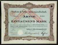 GERMANY 942/H&T -Steffens & Nölle Aktiengesellschaft 1000 Mark 1907 Berlin