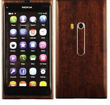 Skinomi Phone Skin Dark Wood Cover+Clear Screen Protector Guard for Nokia N9
