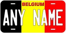Belgium Flag Any Name Number Novelty Car License Plate