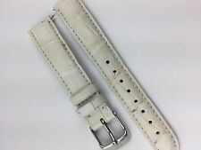 Authentic Michele Deco Park Csx 33 White Alligator Watch Band 16 MM