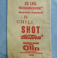 Winchester 25 Lbs Canvas Shot Bag Vintage Advertising 8 Chill Western Olin