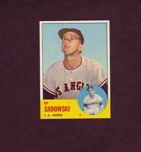 1963 Topps Baseball Card #527 Ed Sadowski LA Angels High Number # NM Or Better