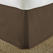 "Italian Luxury Bed Skirt Chocolate Brown 14"" Drop King Size ZIL-BDSK-K-CH"