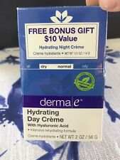Derma E Hydrating Day Creme Exp 3/19 @READ@@ With Bonus Night Creme