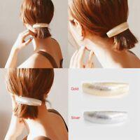 Frauen Gold Silber Chic Metall Haarspange Haarspang Haarnadel Bobby Pin Schmuck