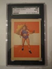 1956 ADVENTURE BOXING CARD #31 TOMMY BURNS - SGC GRADED NM 8