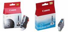 Genuine Canon CLI8 CLI-8B CLI-8C Black Cyan Ink Cartridges Canon Pixma iP3500