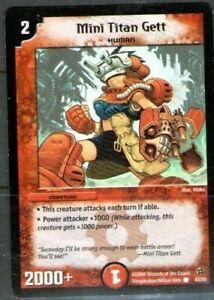 Duel Masters. Mini Titan Gett 43/55. 2004 Wizards of the Coast.