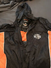 Harley-Davidson Men's Generations Rain Suit Black & Orange 98285-14VM Large.
