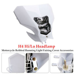 H4 3000K Halogen Hi/Lo Headlamp Motorcycle Refitted Running Light Fairing Cover