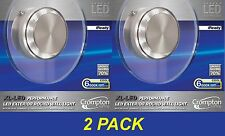 2 x LED Performance Outdoor Round Wall Light Glass Cool White 6000K 240V IP44
