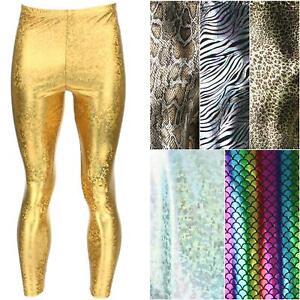 Mens Leggings Meggings Sparkling Shiny Mermaid Scales Festival Party