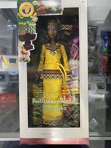 BARBIE Pink Label Festivals of the World Kwanzaa Barbie Doll NRFB