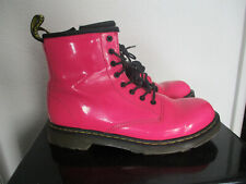Dr Martens Pink Patent Leather Ankle Boots Size 3 / 36