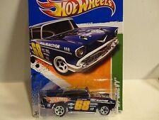 2011 Hot Wheels Treasure Hunt #52 Dark Blue '57 Chevy Bel Air w/White 5 Spokes