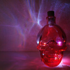 Red Glass Crystal Skull Light - LED - Home Decoration - Multicolored LED