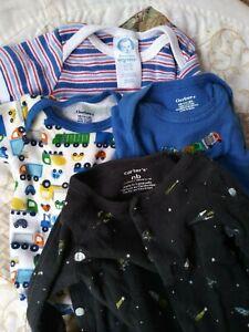 Boys clothes Lot - Newborn 5 - 8 lbs. - 3 Gerber onesies & space sleeper