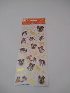 English bulldog craft stickers