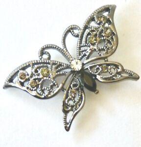 Rodney Holman  Brooch   Butterfly  With centre stone
