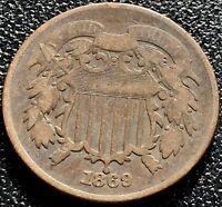 1869 Two Cent Piece 2c Better Grade #15482