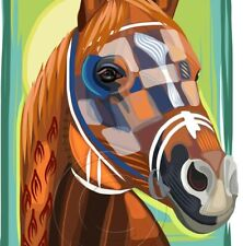 Secretariat Triple Crown Champion Horse Racing Legend Signed Art Print SFASTUDIO