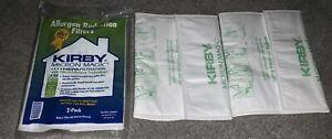 FOUR 4 KIRBY VACUUM BAGS SENTRIA MICRON MAGIC WHITE CLOTH BAGS BRAND NEW