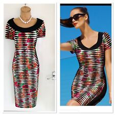 Joseph RIBKOFF Gorgeous Colourful Floral Stretchy Body Con Dress UK Size 18