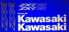KAWASAKI ZXR750 ZXR750J ZXR750J1 DECALS BLUE MODEL