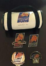 4 DIFF PHOENIX  SUNS NBA BASKETBALL PINS W/ Mini Duffle Bag