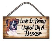 WOODEN SIGN  BOXER DOG  PET LOVER  GIFT PRESENT