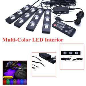 Cars Wireless music control Multi-Color LED Interior Neon Light Kit USB Plug