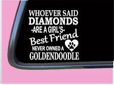 "Goldendoodle Diamonds Tp 478 Sticker 6"" Decal rescue dog poodle doodle"