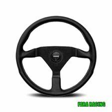 MOMO 11111785225L Volante in Pelle Montecarlo Nero - 350 mm