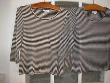PETER HAHN, 2 Stück Rundhals Shirt mit 3/4 Arm, geringelt, Ringel, gr.38