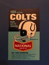 1966 Baltimore Colts Pocket Schedule Trifold National Beer