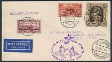 Zeppelin Englandfahrt 1931 Zuleitung Saargebiet nach Frankreich (S13760)