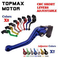 Short CNC Adjustable Brake & Clutch Lever Set for Yamaha WR125X WR125R 2009-2014