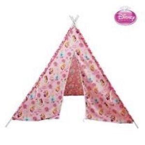 DISNEY PRINCESS MERINGUE Teepee Tent KIDS Home Pretend Play Tipi Outdoor Indoor