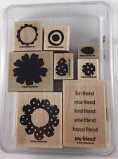 Stampin' Up! POLKA-DOT POSIES (set of 8) Stamps - Two-Step Stampin' - RETIRED