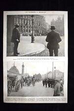 Allemands a Bruxelles Cavalerie belge Louvain WW1 Guerra 1914 - 1918