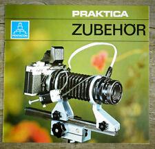 PENTACON Prospekt PRAKTICA ZUBEHÖR Broschüre Wechelsucher Bildfeldlinsen (X7091