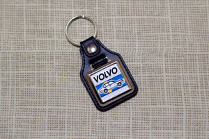 Volvo 360 Keyring - Leatherette & Chrome Keytag