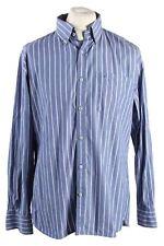 Vintage Tommy Hilfiger Custom Fit Stripe Long Sleeve Shirts L Blue SH3913