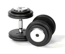 2 x 17.5KG Commercial Gym Dumbbells, Fixed Weight, Pro Discs, Chrome Bar & Ends