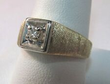 Men's 14K Gold 25ct. Solitaire Diamond Ring Size 10.25 SAVE 1,200 #188
