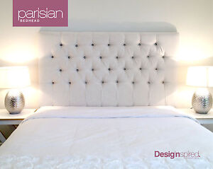 PARISIAN Upholstered Bedhead / Headboard for Queen Ensemble - OATMEAL