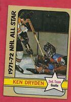 1972-73 TOPPS # 127 CANADIENS KEN DRYDEN ALL STAR CARD