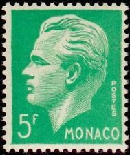 "MONACO STAMP TIMBRE N° 349 "" PRINCE RAINIER III 5 F VERT "" NEUF x  TB"