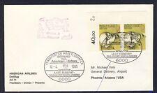 48516) AA FF Frankfurt - Phoenix USA 12.4.85, cover nice franking